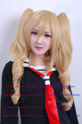 NEW Fashion HOT sexy double pony tail Blonde Curly Anime cosplay wigs party Masquerade girls 60CM