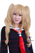 NEW Fashion Sexy HOT double pony tail Blonde Curly Anime cosplay wigs party Masquerade girls 60CM