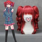 41cm Curly Wine Red Cosplay Wig + 2 ponytails Teto / Shirai Kuroko