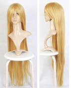 Cosplayland C638- 110cm straight extra-long Carnival heat-resist Straight Wig - blond
