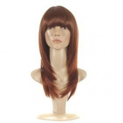 Red Head Mid Length Feather Cut Wig | 70s Inspired Hair | Face Framing Style