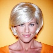 Blonde Wig - High Quality Kanekalon Synthetic Wigs for Women, Medium Style, Hair Loss Replacement, Like Human Hair
