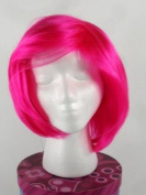 Pink Wig - High Quality 100 % Kanekalon Synthetic Wigs for Women, Short Straight Style, Show Support for Breast Cancer Awareness