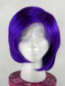 Purple Party Wig - High Quality Kanekalon Synthetic Wigs for Women, Short Straight Style, Fun, Edgy, Show Your Team Spirit!