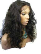 Tanya 50cm long wig 100% Indian Remy Human Hair Lace Front Wig Malaysia Body Wave 1B-30