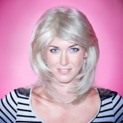 Blonde Wig - High Quality Kanekalon Synthetic Wigs for Women, Like Human Hair, Medium Style, Hair Loss Replacement