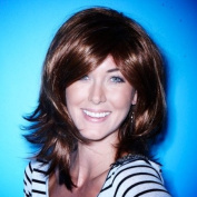 Red Wig - High Quality Kanekalon Synthetic Wigs for Women, Medium Auburn Style, Hair Loss Replacement, Like Human Hair