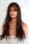 60cm #2 Indian Remy Hair Straight Full Lace Wig