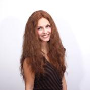 100% Mongolian Virgin Remy Hair Mono Top Lace Front Wig, H-6/30/33# Extra Long Brown Wavy Hair 50cm , Full Handtied
