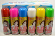 Coloured Hair Spray 90ml (24 Cans) Temporary Coloured Hair Spray