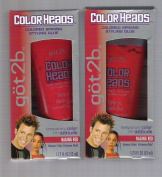 Got2b Colour Heads Coloured Spiking Styling Glue Raging Red 1.75 Oz