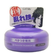 Gatsby Moving Rubber Wild Shake Hair Styling Wax 80ml
