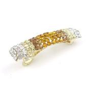 Gold Czech Crystal Rhinestone Princess Hair Barrette