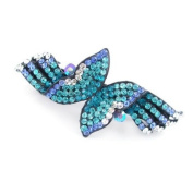 Crystalmood Blue Boutique Czech Crystal Rhinestone Wings Hair Barrette