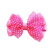 Hot Pink Butterfly Bow Clip, Beautiful Gifts for Girls