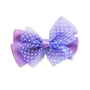 Purple Butterfly Bow Clip, Beautiful Gifts for Girls