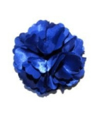 A Girl Company Royal Blue Flower Satin Brooch/Clip for Girls