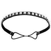 Mia Fashion Headband, Black Studded