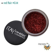 Itay Beauty Mineral cosmetic face and body glitter Colour Red Flair G14