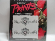 Body Prints Romance Temporary Tattoos - Heart