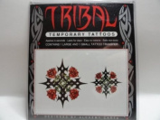 Tribal Temporary Tattoos - Rose Cross Theme