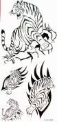 YiMei Cool waterproof tattoo sticker black animal tiger for men