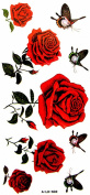 YiMei Tattoo stickers waterproof sexy female rose butterfly