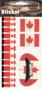 Canadian Flag Temporary Lip Nail Tattoo Transfer Kit, Canada Flag Tattoo