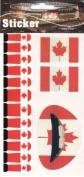 Canadian Flag Temporary Lip Nail Tattoo Transfer Kit, Canada Flag Tattoo