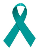 100 Pack Teal Blue Ribbon Temporary Tattoos for Ovarian Cervical Uterine Cancer Awareness