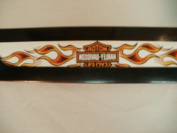 Harley Davidson Motorcycle Temporary Tattoo with Flames 25cm