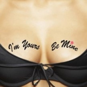 ta-ta-too's Temporary Tattoos For Your Ta-Tas, I'm Yours Be Mine / Lucky You