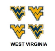 Innovative Adhesives BC-12 West Virginia Fan-A-Peel Temporary Tattoo-Sticker