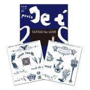BG Body Graphics Temporary Tattoo Je t`aime Homme