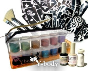 Glitter Temporary Tattoo PRO KIT 100 Tattoos - Water Proof Do It Yourself!