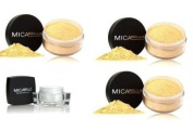 3x Micabella foundation mf5 cappuccino 9 gramme each+facial moisturise +liquid eye liner brown free gift