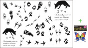 2012 latest new design hot selling Men and women waterproof tattoo sticker wolf paw print fake tattoo