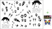 2012 latest new design hot selling Men and women waterproof tattoo sticker wolf paw print fake tattoo