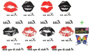 2012 latest new design hot selling New release tattoo stickers waterproof female models KISS the lip print Totem temp tattoos