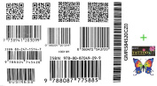 2012 latest new design new release Tattoo sticker waterproof black and white models barcode tattoo