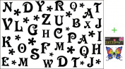 2012 latest new design new release tattoo sticker waterproof male and female models black and white 26 letters of the alphabet temporary tattoo