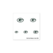 Green Bay Packers Official NFL 2.5cm x 2.5cm Fingernail Tattoo Set by Wincraft