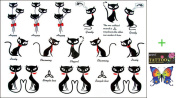 2012 latest new design hot selling Male and female tattoo stickers waterproof bow cat temp tattoo