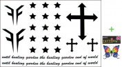 2012 latest new design hot selling Male and female tattoo stickers waterproof cross star temporary tattoos