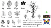 2012 latest new design hot selling Male and female tattoo stickers waterproof the English small trees leaf temporary tattoos