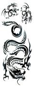 GGSELL Waterproof black tattoo stickers totem dragon