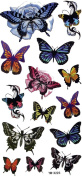 GGSELL Fashion design Waterproof colourful tattoo stickers insects butterflies