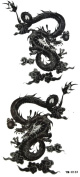 GGSELL YiMei Cool and fashion design double dragon temporary tattoos