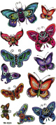 GGSELL YiMei Fake colourful butterflies tattoos stickers