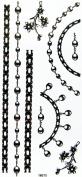 GGSELL YiMei Hot selling charming waterproof tattoo sticker black jewellery necklaces, bracelets